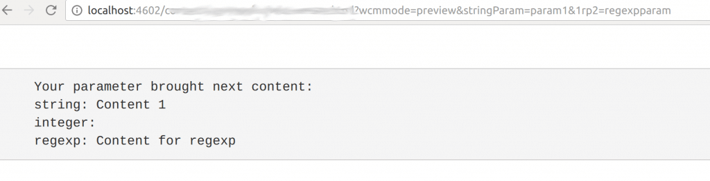 sling models request parameter regular expression
