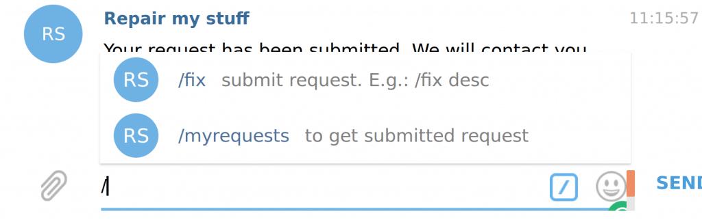 telegram chatbot command list