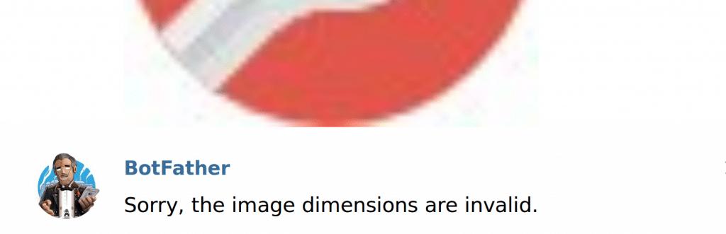 telegram chatbot set userpic wrong dimensions