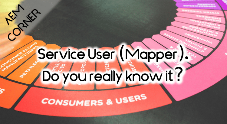 Aem Sling Service User Mapper Header image