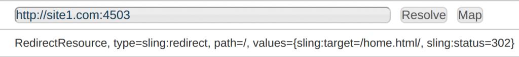 aem resource mapping no dispatcher host test