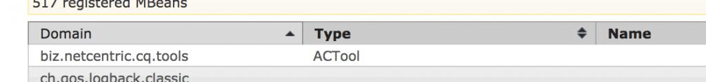 ACTool jmx interface